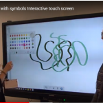Communicating with symbols Interactive touch screen