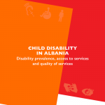 Child disability in Albania – Disability prevalence, access to services and quality of services